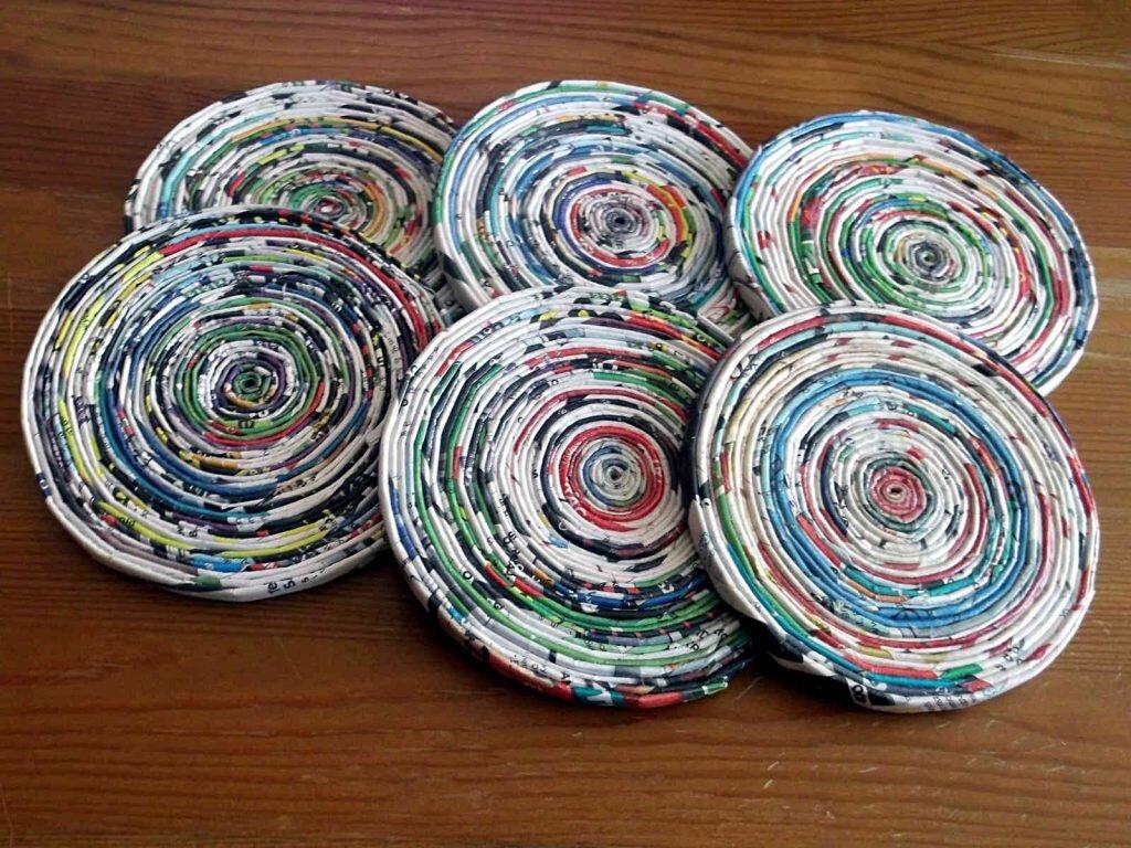 podkładka z papierowej wikliny