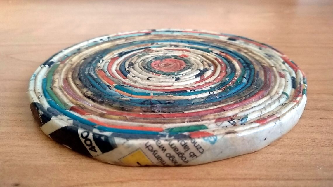 6b3b47095569ba Jak wygląda podkładka z papierowej wikliny po latach? - Moje Hobby