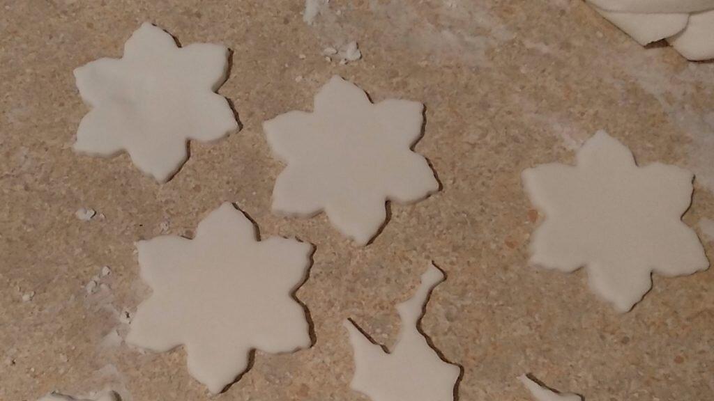 masa porcelanowa - gwiazdki